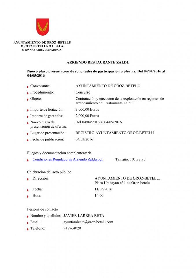 10.- ANUNCIO PUBLICIDAD PRÓRROGA PLAZO ARRIENDO ZALDU